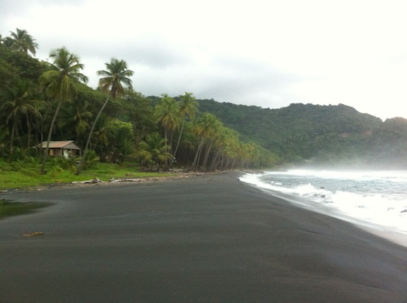 The top caribbean black sand beaches for Black sand beach caribbean