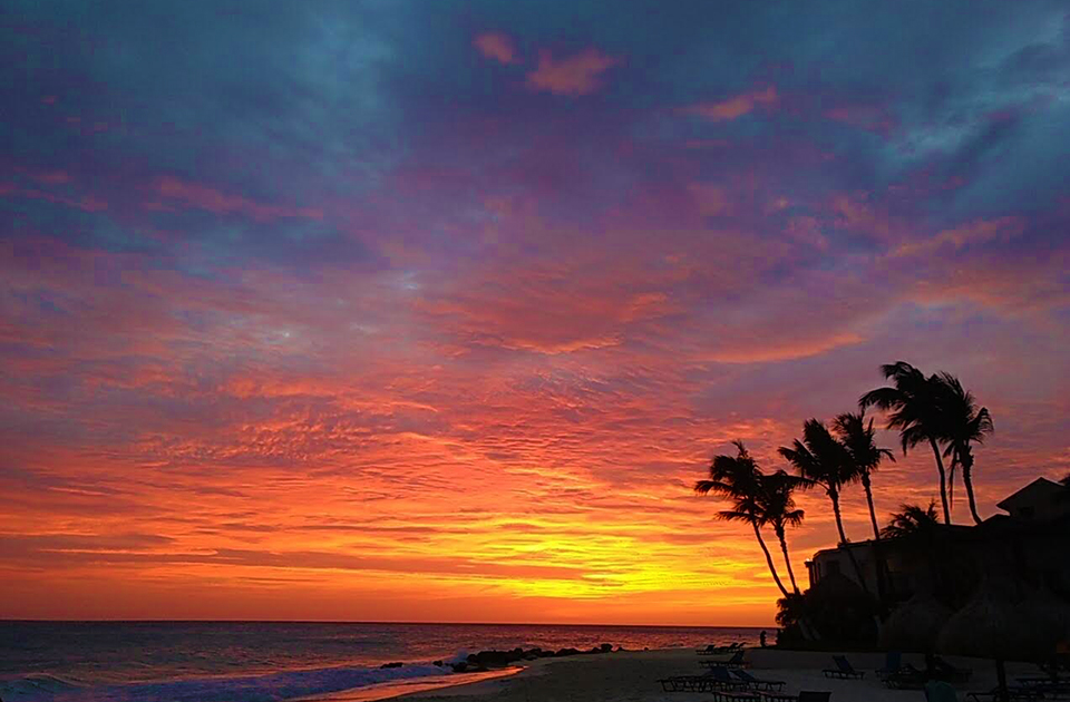 Caribbean Photo Of The Week The Colors Of Sunset In Aruba