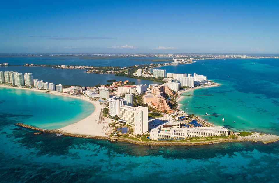 caribbean frontier airlines aerial cancun